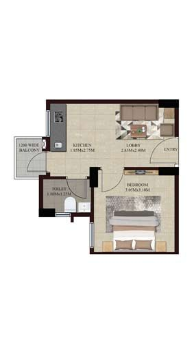 Swamanorath – 1 BHK Floor Plan Unit