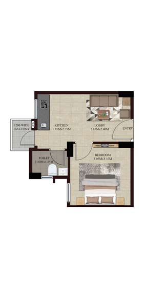 Swamanorath - 1 BHK Floor Plan Unit