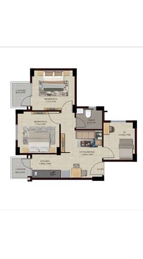 Swamanorath – 2+S BHK Floor Plan