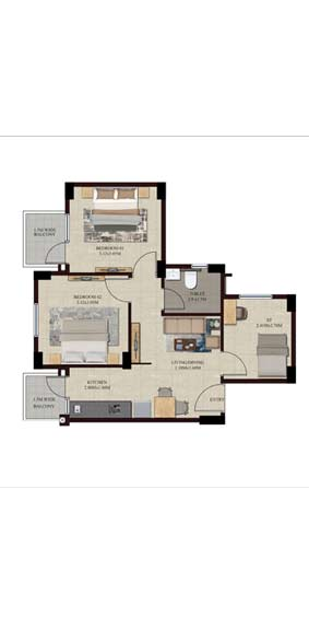 Swamanorath - 2+S BHK Floor Plan