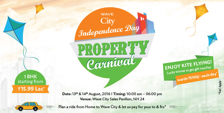 Wave City Organizes Independence Day Property Carnival on 13th & 14th August