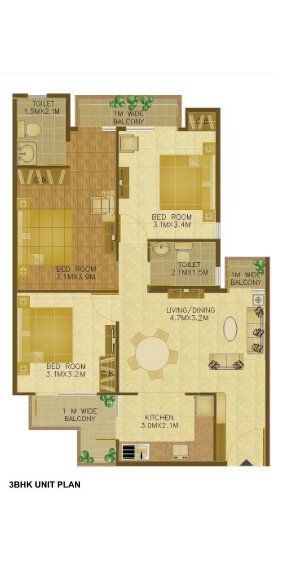 wave-executive-floors-3-bhk-floor-plan-1