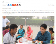 Health check-up camp organized at Wave city Noida