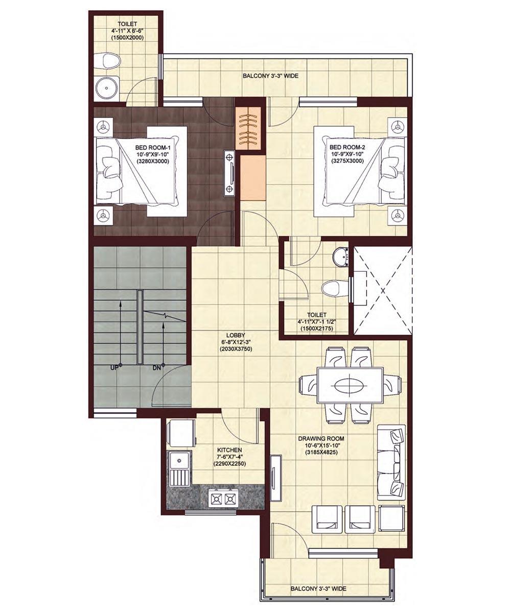 wave-floors-First-Floor-Plan-Type-1