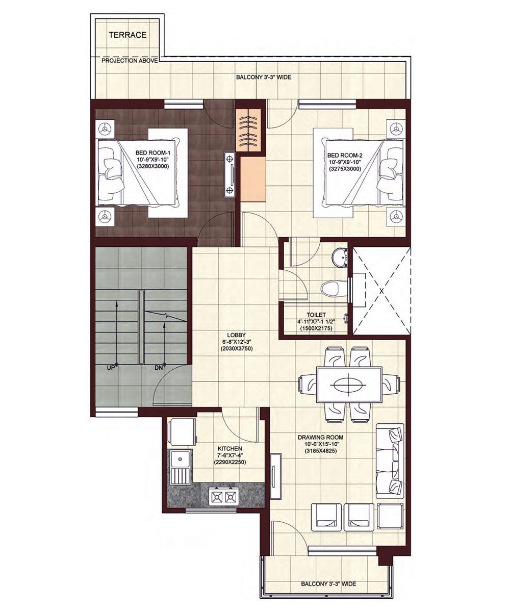 wave-floors-Second-Floor-Plan-Type-1