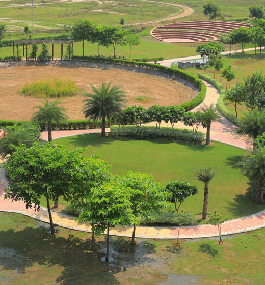 Large and Open Green Space at Wave City Dream Homes