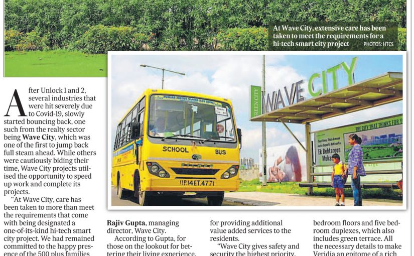 Wave City article published in Hindustan Times City