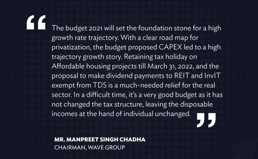 Wave Group Chairman shared his valuable opinion on budget 2021